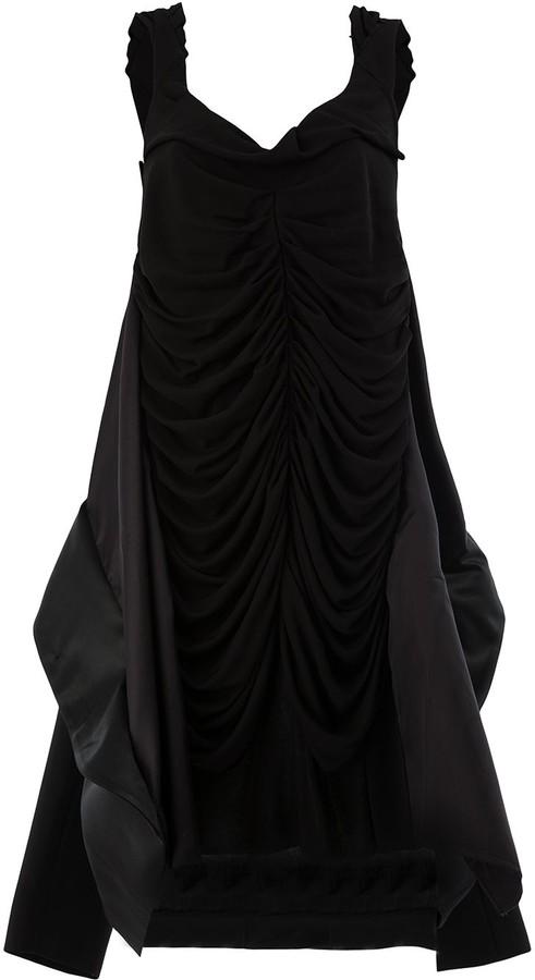 Maison Margiela Ruched Asymmetrical Hem Dress