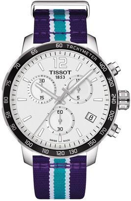 Tissot Men's Quickster Chronograph NBA Charlotte Hornets Watch, 42mm