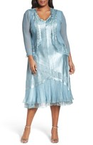 Komarov Plus Size Women's Lace Trim Jacket Dress