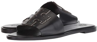 Tory Burch Ines Slide (Perfect Black/Silver) Women's Slide Shoes