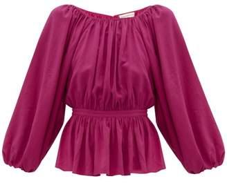 Mara Hoffman Maud Cinched-waist Poplin Blouse - Womens - Pink