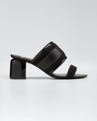 Pierre Hardy Targa 70 mm Mixed Leather Slide Sandals