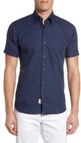 Peter Millar Men's Autumn Check Short Sleeve Sport Shirt