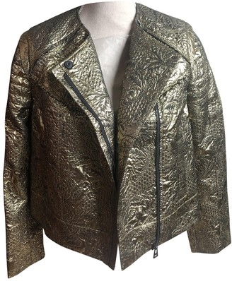 Zadig & Voltaire Gold Cotton Leather Jacket for Women