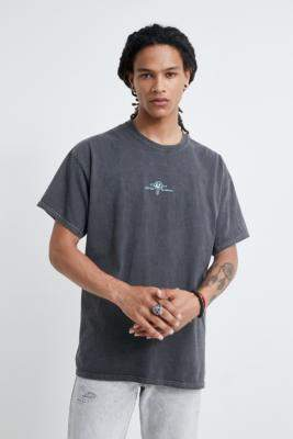 Urban Outfitters Infinite Kosmos Washed Black T-Shirt - black S at