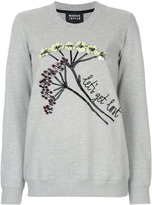 Markus Lupfer sequin embroidered sweatshirt