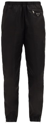 Prada Triangle Logo-plaque Re-nylon Track Pants - Black