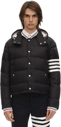 Thom Browne Matted Nylon Bomber Down Jacket
