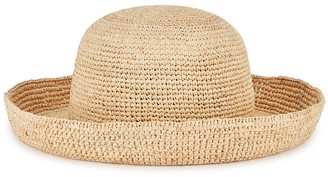 LACK OF COLOR Cruiser Raffia Boater Hat