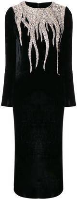 Christian Pellizzari Embroidery Strass Evening Dress