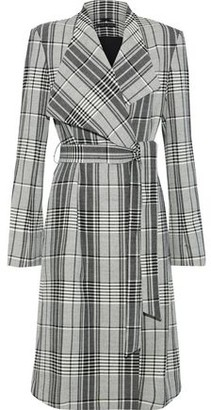 Alice + Olivia Ginny Belted Checked Woven Coat
