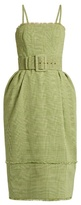 Rosie Assoulin Artichokes Hearts Prince of Wales-checked dress
