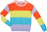 Autumn Cashmere Girl's Striped Crewneck Sweater, Size 8-16