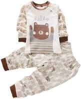 Zhengpin Kids Boy Girl Nightwear Sleepwear Cotton Pajamas Cartoon Outfit Set