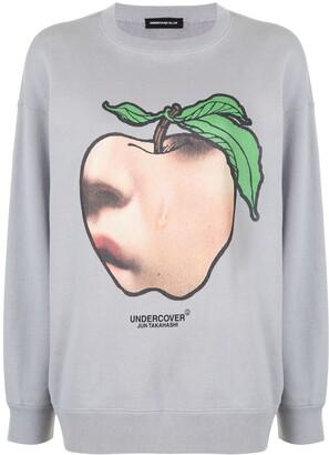 Undercover Apple Tear-Print Sweatshirt