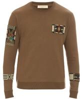 Valentino Embellished Crew-neck Cotton-blend Sweater