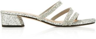Mara & Mine Della Glittered Leather Sandals