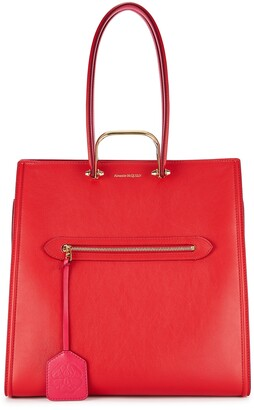 Alexander McQueen The Tall Story Red Leather Tote
