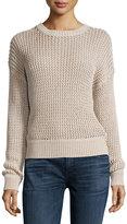 Current/Elliott The Zigzag Open-Knit Sweater, Oatmeal