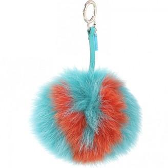 Fendi Blue Fox Bag charms