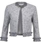Oscar de la Renta Ruffle-Trimmed Cotton-Blend Jacket