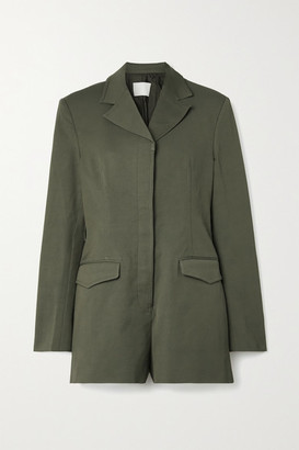 Dion Lee Drill Playsuit - Army green