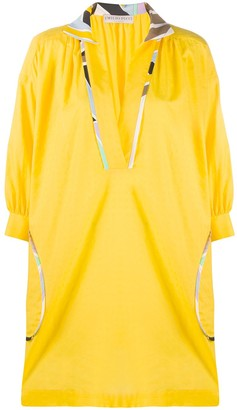 Emilio Pucci abstract-trimmed mini dress