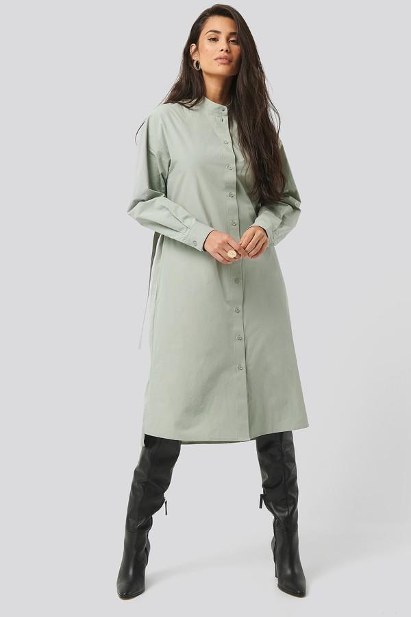 NA-KD Adjustable Side Strap Shirt Dress