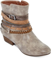 POP Heidi Buckle Strap Ankle Booties