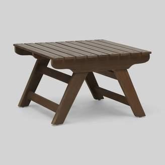 Christopher Knight Home Sedona Acacia Wood Patio Side Table Gray