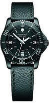 Victorinox 241788 Women's Maverick Date Leather Strap Watch, Black