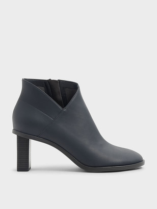 Charles & Keith Stitch Trim Ankle Boots
