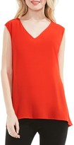 Vince Camuto Petite Women's Mixed Media Top