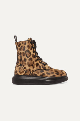 Alexander McQueen Leopard-print Calf Hair Ankle Boots - Leopard print