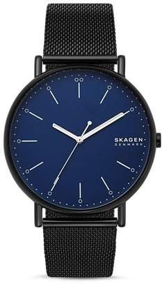 Skagen Signatur Black Mesh Bracelet Watch, 45mm