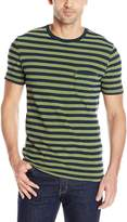 Levi's Men's Set-In Sunset Pocket T-Shirt, Half Stripe Sea Moss/Indigo