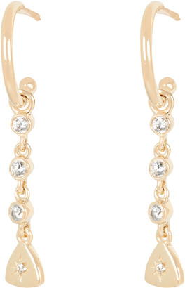 ela rae Crystal Starburst Charm Hoop Earrings