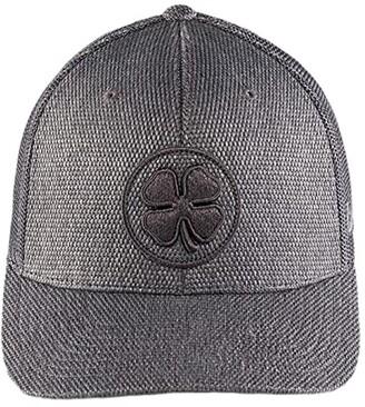 Black Clover Bamboo 3 Adjustable Hat (Charcoal Clover/Charcoal) Baseball Caps