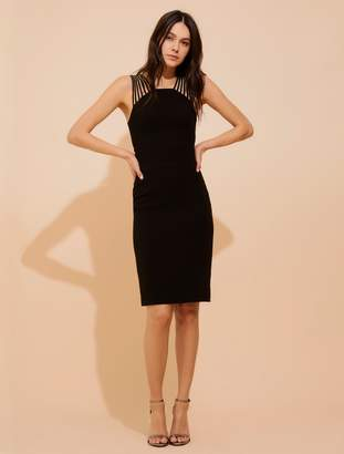 Halston Body-con power crepe dress