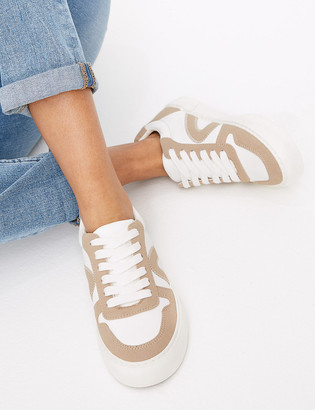 Marks and Spencer Lace Up Contrast Detailing Trainers