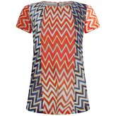 Missoni MissoniGirls Red & Purple Zigzag Dress