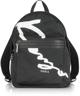 Kenzo Signature Black Fabric Medium Backpack