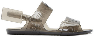 Off-White Off White Black Jelly Zip-Tie Sandals