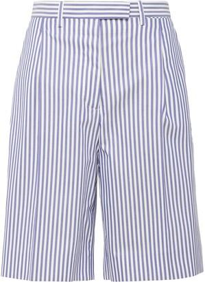 Prada Striped Knee-Length Shorts