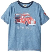 Hatley To The Rescue Firetruck Short Sleeve Tee Boy's T Shirt