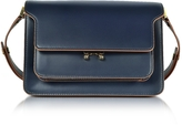 Marni Navy Blue Leather Trunk Bag