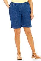 Allison Daley Plus Pull-On Cottage Shorts