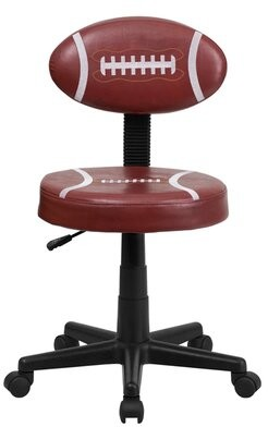 Sports Design Kids Desk Zoomie Kids Color: Brown Football, Arms: No