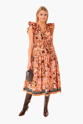 Ulla Johnson Blush Floral Arina Dress