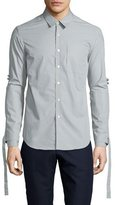 Opening Ceremony Range Whip Woven Dress Shirt, Timberwolf Gray